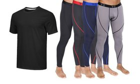 5-Pack Men's Compression Pants with Dry-Fit Tee (S