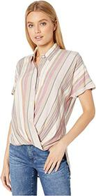 BCBGeneration Wrap Hem Short Sleeve Woven Top THI1