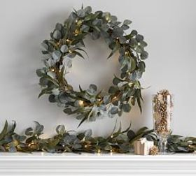 Pottery Barn Pre-Lit Eucalyptus & Olive Collection