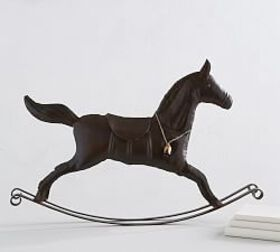 Pottery Barn Bronze Rocking Horse