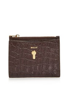 Bally - Cogan Croc-Embossed Leather French Wallet