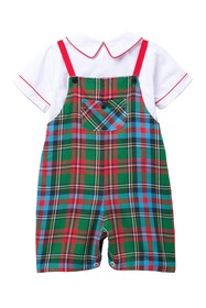 Carriage Boutique Plaid Short Bobbie Suit (Baby Bo