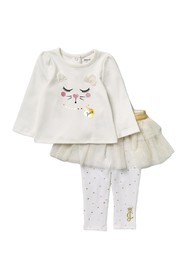 Juicy Couture Cat Long Sleeve Top & Skeggings Set