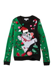 Ten Sixty Sherman Kitty Christmas Sweater (Big Gir