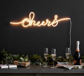 Pottery Barn Cheers Light Up Sign