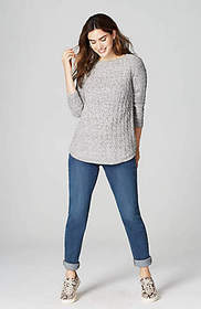 Cabled Shirttail Sweater Tunic