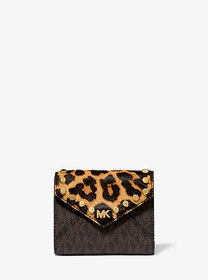 Michael Kors Medium Logo and Leopard Envelope Wall
