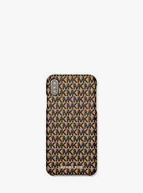 Michael Kors Logo Leather Phone Cover for iPhone X