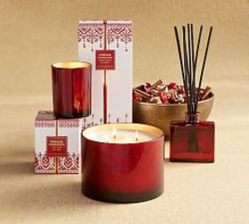 Pottery Barn Fireside Cinnamon Scent Collection
