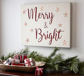 Pottery Barn Merry and Bright Light Up Sign