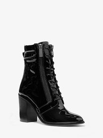 Michael Kors Rosario Patent Leather Lace-Up Boot