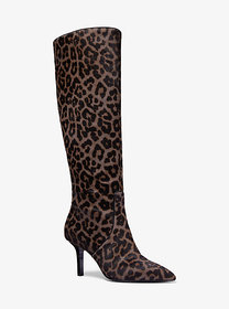 Michael Kors Katerina Leopard Calf Hair Knee-High