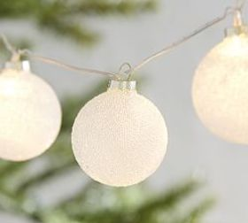 Pottery Barn Frosted Ornament String Lights
