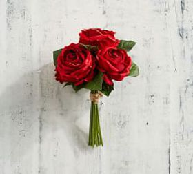 Pottery Barn Faux Red Rose Bouquet