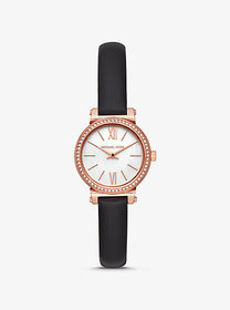 Michael Kors Petite Sofie Leather and Rose Gold-To