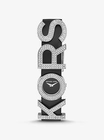 Michael Kors Pavé KORS-Embellished Leather Watch