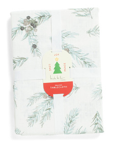 NICOLE MILLER Pinecone And Berries Tablecloth