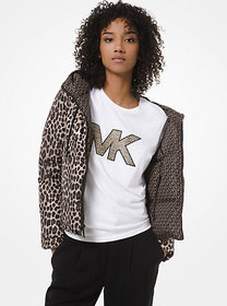 Michael Kors Reversible Leopard and Logo Quilted P