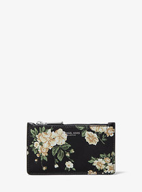 Michael Kors Small Floral Leather Card Case