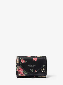 Michael Kors Floral Calf Leather Small Pocket Wall