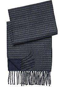 Pronto Uomo Navy & Charcoal Reversible Scarf