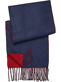 Pronto Uomo Navy & Burgundy Reversible Scarf