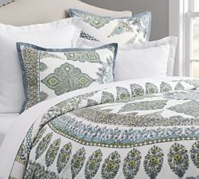 Pottery Barn Aurora Duvet Cover & Shams - Cool Mul