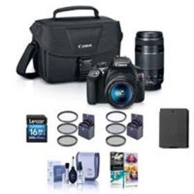 Canon EOS Rebel T6 DSLR with 18-55mm IS & 75-300mm