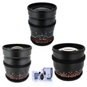 Rokinon T1.5 Cine Bundle for Canon EF-Mount With 2