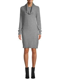 Time and Tru Cowl Neck Dress with Button Detail Wo