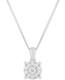 "Diamond Halo 18"" Pendant Necklace (1/3 ct. t.w.) i"