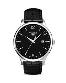 Tissot - Tradition Black Leather Strap Watch, 42mm