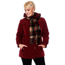 Plus Size Gallery Faux Silk Stadium Anorak Coat wi