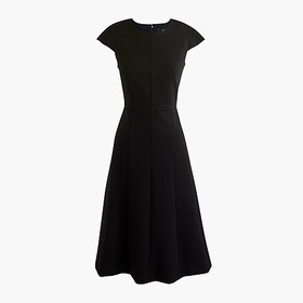 J. Crew Cap-sleeve A-line midi dress in structured