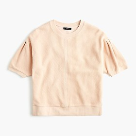 J. Crew Puff sleeve pullover T-shirt in terry cott