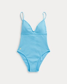 Ralph Lauren Ribbed One-Piece Swimsuit
