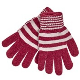 KIT Womens Striped Knit Chenille Lined Gloves