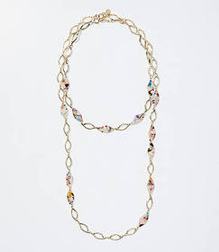 Resin Chain Link Necklace Set
