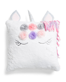 ISAAC MIZRAHI Flower Crown Unicorn Pillow