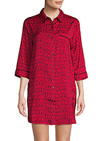DKNY Logo Sleepshirt RED MULTI