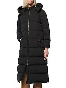Marc New York Quilted Faux-Fur Trimmed Puffer Coat