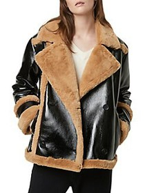 French Connection Filipa Faux-Shearling Faux Leath