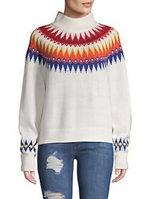 French Connection River Vhari Fair Isle Sweater WH