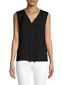 French Connection V-Neck Sleeveless Top BLACK