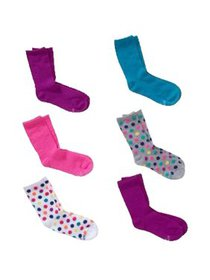 Hanes Girls Socks, 6 Pack Crew (Big Girls)