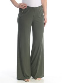 RALPH LAUREN Womens Green Flare Wear To Work Pants