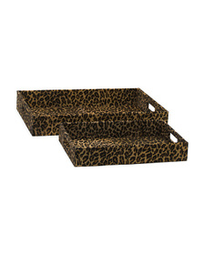 HANDCRAFTED IN INDIA Leopard Print Tray Collection