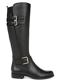 Naturalizer Jessie Leather Riding Boots BLACK