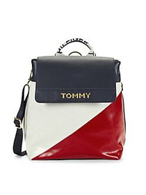 Tommy Hilfiger Cassie Nylon Colorblock Flap Backpa