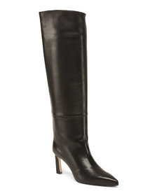Reveal Designer Made In Spain Tall Leather Boots